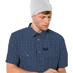 Jack Wolfskin Thompson T-shirt manches courtes Homme, ocean wave checks